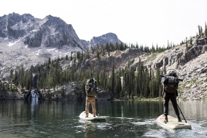Paddle Boarding at Sawtooth Mountain
