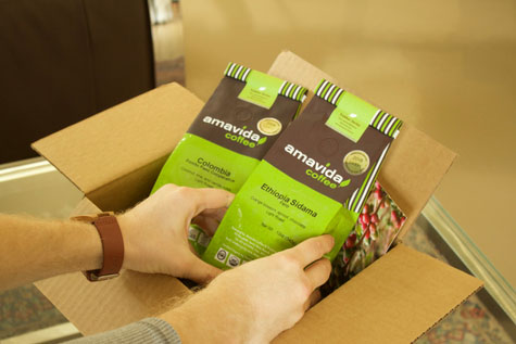 Coffee delivery and subscription services with Amavida Coffee Roasters.