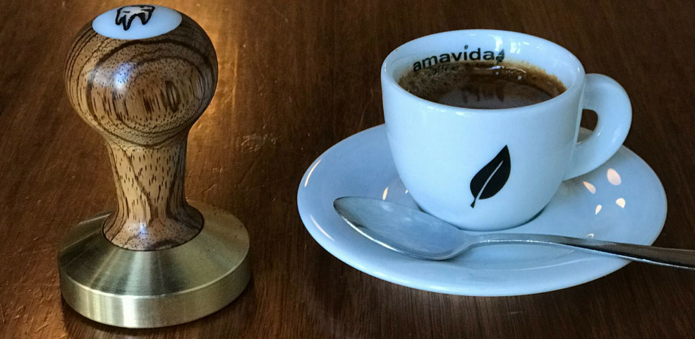 Amavida baristas custom espresso coffee tamps