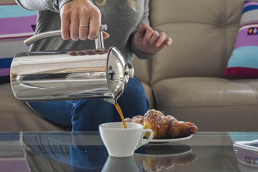 Enjoy fresh french press coffee at home or at the office