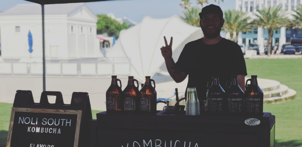 Drink Local Kombucha by Noli South at the Seaside FL Farmers Market
