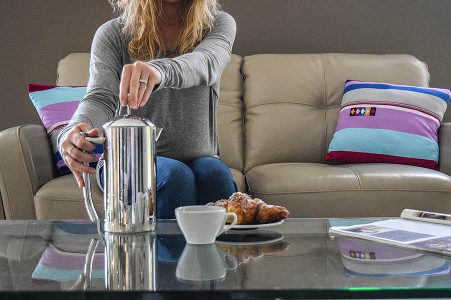 Enjoy fresh french press coffee at home