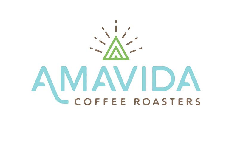Amavida Coffee Roasters New Logo designed by Kevin Tudball