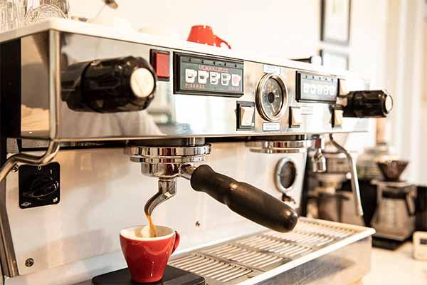 La Marzocco espresso machine at Amavida Coffee Rasters in Miramar Beach, Florida