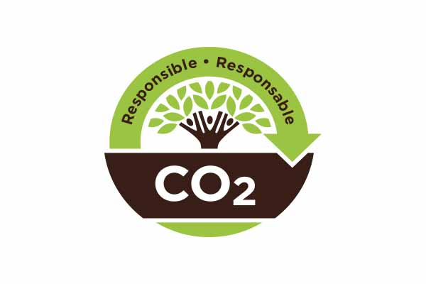 Carbon Neutral seal for companies who offset CO2 with Taking Root.