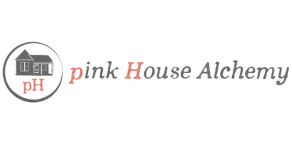 """pH"" pink House Alchemy logo"