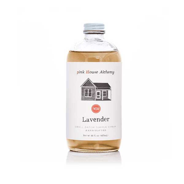 Bottle of Lavender Flavor Syrup by pink House Alchemy