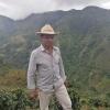 organic Colombian coffee farmer, Jorge Dussan, at his farm Finca El Ilusión at 1900 meters above sea level.