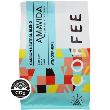 12 oz bag of Amavida Coffee Roasters 100% Carbon Neutral Atmosphere blend