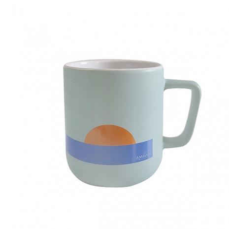 Amavida Coffee Roaster's inspiring 'Day of Possibility' custom 12 oz ceramic coffee mug