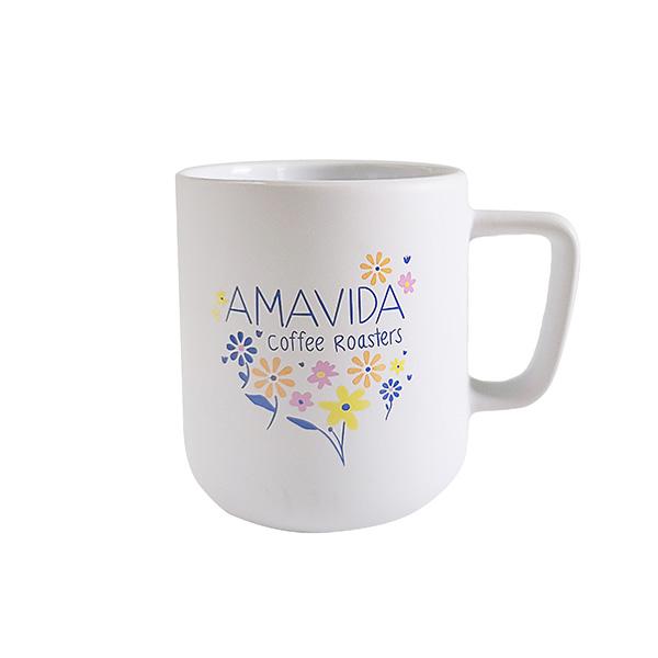 "Amavida Coffee Roasters ""Floral Notes"" 12 oz Ceramic Mug"