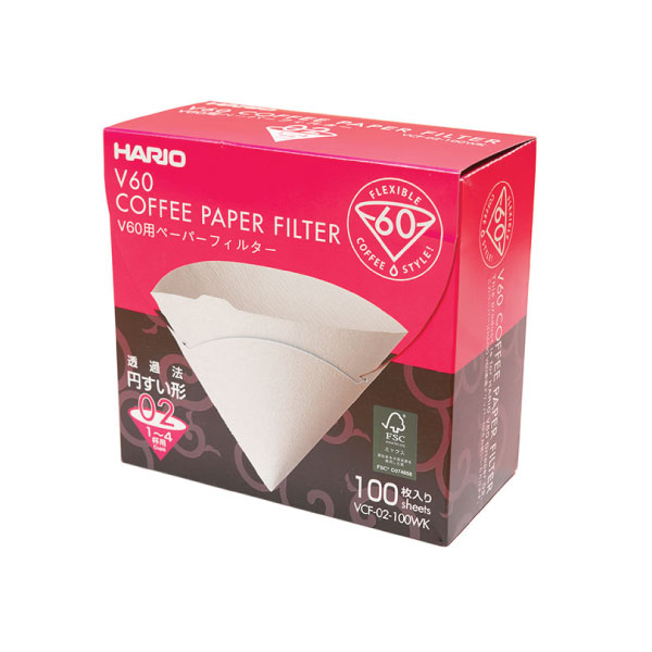 Hario Coffee Paper Filters (100 Ct Box)