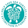 "Logo for SouthWaltonTurtleWatch.org with message ""Help Us Save Our Sea Turtles, Extinction is Forever"""
