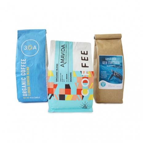 The Clean Beaches Coffee Bundle includes: (x1) 12 oz bag of whole bean 100% Plastic Neutral Oceans Blend (x2) 12 oz bag of whole beanSave Our Sea Turtles Blend (x1) 12 oz bag of whole bean30A Florida Sunrise Blend