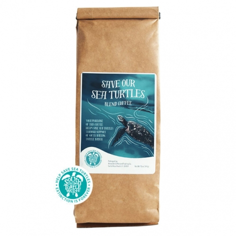 12 oz bag of Amavida Coffee Roasters' collaboration Save Our Sea Turtles blend benefiting the South Walton Turtle Watch