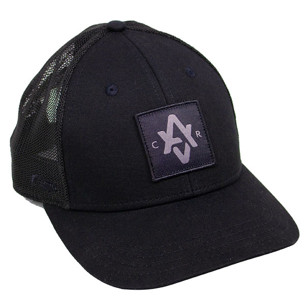 """Patch hat with """"AVCR"""" custom design in black"""