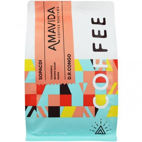 12 oz bag of Amavida Coffee Roaster's Organic Coffee from SOPACDI in the D.R. Congo