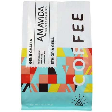 12 oz organic Ethiopian Coffee from Genji Challa by Amavida Coffee Roasters