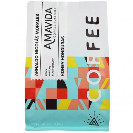 12 oz bag of Amavida Coffee Roasters honey Honduras organic coffee from Arnaldo Nicolás Morales